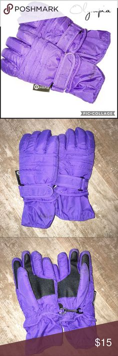 Olympia Youth Ski Gloves Purple Size S Olympia Youth Ski Gloves Purple Size S - Name In Marker On Lower Wrist (See Pic) - *Excellent Condition* Olympia Activewear Accessories Mittens
