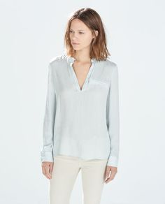 Image 1 of BUTTONED NECK SHIRT from Zara