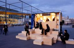 pop up cafe concept japan - Google Search Outside searing- this