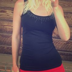 The Limited rhinestone black tank 20% off if you find two items in my closet you like! The Limited Tops Tank Tops