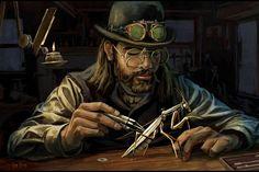 Steampunk Inventor by Cliff Cramp-1