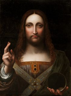 "Salvator Mundi "" century By Italian renaissance painter Giampietrino ( ) At Detroit Institute of Art in USA Paint on wood panel Human Body Photography, Lady With An Ermine, Salvator Mundi, Religious Paintings, Religious Art, Baroque Art, Renaissance Art, Italian Renaissance, Wood Paneling"