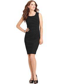 Calvin Klein Dress, Sleeveless Seamed Sheath - Womens Calvin Klein Dresses - Macy's--Size 4 (Maybe in white) Office Fashion, Work Fashion, Fashion Outfits, Nyc Fashion, Review Dresses, Calvin Klein Dress, Petite Dresses, Fashion Branding, I Dress