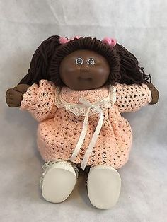 405688c23c5444 Vintage Cabbage Patch Kids African American Yarn Hair Doll Collectible Gift