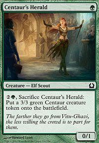 Centaur's Herald (Return to Ravnica) - Gatherer - Magic: The Gathering Magic The Gathering Cards, Magic Cards, Centaur, Geek Culture, Cool Cards, Mtg, Illustration Art, Creatures, Fine Art