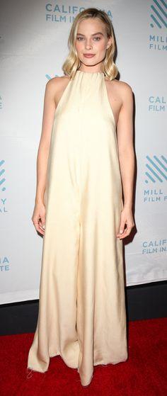 "Margot Robbie in The Row attends the ""I, Tonya"" San Antonio screening. #bestdressed"
