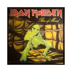 Glittered Iron Maiden Piece of Mind Album