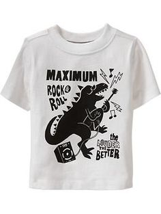 """Maximum Rock & Roll"" Dino Tees for Baby 