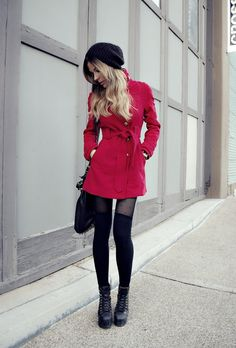 Coat with tights/leggings, wear flats and leg Warmers.