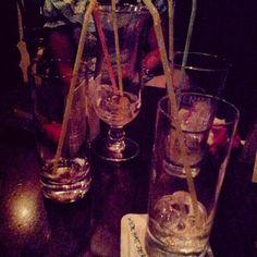 Gelas2 cocktail yang uda abis diminum isinya :)
