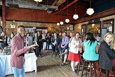 Spoken word poet, Steven Willis' performance in the networking area
