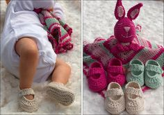 FREE Pattern Black Sheep: Crocheted baby shoes - for a newborn!