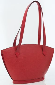 d78d1dbf6393 Louis Vuitton Red Epi Leather Saint Jacques PM Shoulder Bag This  sophisticated everyday tote in durable epi leather - Available at Tuesday  Internet Luxury.