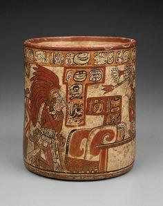 Cylinder vase Maya , A.D. 650–800. -1