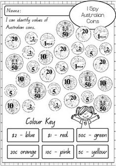 AUSTRALIAN MONEY ACTIVITY WORKSHEETS - TeachersPayTeachers.com                                                                                                                                                      More