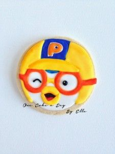 Pororo Cookies 2nd Birthday, Birthday Ideas, Royal Icing Decorated Cookies, Arctic Penguins, Rubber Duck, Cookie Decorating, 1 Year, First Birthdays, Parties