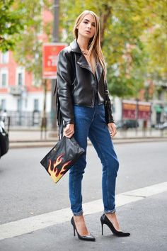 A fringed leather jacket makes any outfit instantly cooler for date night (and warm enough for fall)
