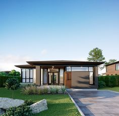 Modern house with black aluminium windows - Windows And Doors ...