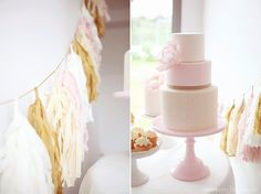 Pink, gold and white party
