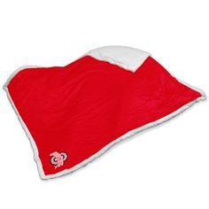 Ohio State Buckeyes NCAA Soft Plush Sherpa Throw Blanket (50in x 60in)