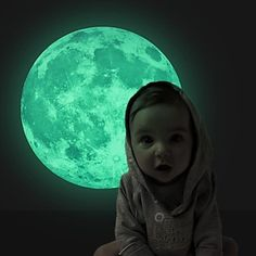 Cheap glow in dark moon, Buy Quality moon glow directly from China glow in dark Suppliers: Luminous Night Moon Glow in the Dark Moon Space wall Stickers bedroom mural wall decals for kid room home decor poster