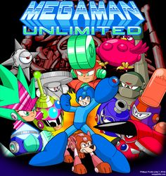 Megaman Unlimited Release Cover Art: Gonna try this out, but have high expectations when I read that Capcom mistakenly used artwork from this game on it's Megaman 10 site, and then invited the indy creator to hang out with the pros for fun!