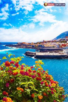 The natural scenic seascape in the Canary Islands looks splendid in the spring and summer seasons. Garcachio village in Tenerife blooms of with colourful flowers on a sunny day. #tenerife #canary #summer #itsallabouttravel #travelcenteruk