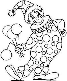 Dibujos Sin Colorear: Dibujos de Payasos del Circo para