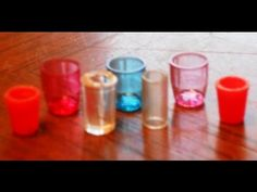 Video showing how to make dollhouse sized plastic glasses from transparent plastic ball point pens | Source: Garden of Imagination