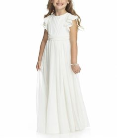 robe longue blanche  de princesse cérémonie soirée mariage  fille  enfant flower girl kid children dress