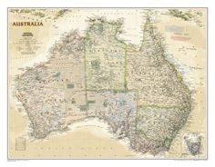 National Geographic - Australia Executive Map Laminated Poster Laminated Poster