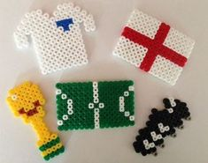 world cup crafts – If there is football madness in your house… take a peak at these fun hama bead ideas! K Cup Crafts, Bead Crafts, Arts And Crafts, Easy Crafts For Kids, Diy For Teens, Art For Kids, Hama Beads Patterns, Beading Patterns, Copa Football