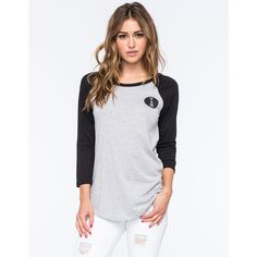 Young & Reckless Circle Vars Womens Raglan Tee ($27) ❤ liked on Polyvore