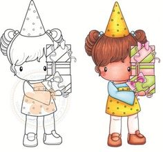 *C.C. Designs BIRTHDAY LUCY Rubber Stamp #StudioCalicoPinToWin