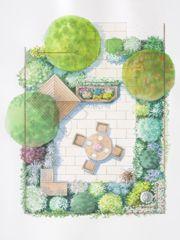 1000 id es sur le th me les plans de conception de jardin for Plan amenagement jardin rectangulaire