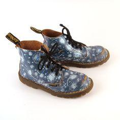 blue dandelion Doc Martens