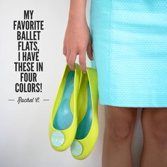 """""""These are my favorite ballet flats, I have them in four different color combinations!"""" Rachel C."""