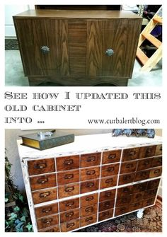 DIY Knockoff Card Catalog: With a Surprise! - I have been crushing on some amazing antique card catalogs and just could not bear the $1000 price tag that comes…