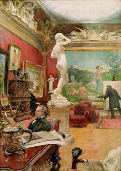 Interior of the Furstenberg Gallery, Goteborg 1885, Carl Larsson Tavlor, Glic�e