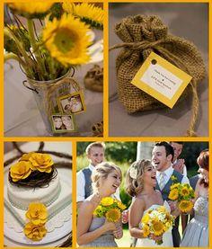 Beautiful yellow wedding ideas.