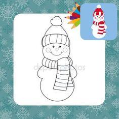 Stáhnout - Kreslený sněhulák — Stocková ilustrace #46810341