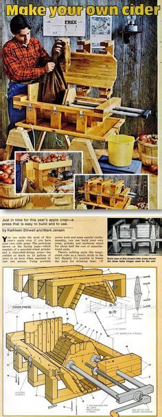 DIY Cider Press - Woodworking Plans and Projects - Woodwork, Woodworking, Woodworking Plans, Woodworking Projects