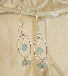 A Place by The Sea Opal Earrings Spring Summer Line by ilovemy1984, $25.00