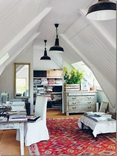 An Attic Office Space by Emily A. Clark - I could totally do this!!!