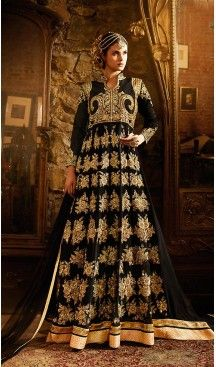 Black Color Georgette Designer Long Anarkali Style Churidar Suit | FH498076291 #heenastyle , #salwar , #kameez , #suits , #anarkali , #party, #wear , #panjabi , #patiyala , #abaya , #style , #indian , #fashion , #designer , #bridel , #evening , #formal , #office , #deaily , #dupatta , #churidar , #palazo , #plazzo , #nerrow , #pant , #dress , #dresses , #fashion , #boutique , #mode , #henna , @heenastyle , #latest , #gowns , #pakistani , #readymade , #stitched , #plus , #size , #islamic