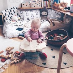 """""""One of those moments, one of those mornings.. ☺️☁️☀️❤️ pic by @nynneetliloujos  #woodenstory #woodenblocks #ecotoy #greentoy #naturalblocks…"""""""