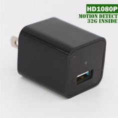 Hidden Cameras Charger Adapter,OOSSXX 1080P HD USB Wall Charger Hidden Camera/Nanny Spy Camera Adapter with 32G Internal Memory,The Best New Version