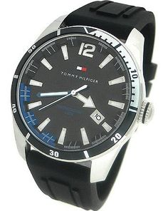 Tommy Hilfiger Silicone Black Dial Men's watch #1790779