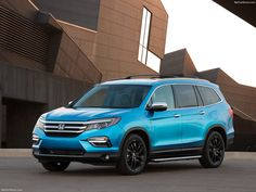 We love this new Honda Pilot in bright blue!