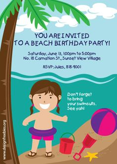 Retro surf birthday party birthday party ideas birthdays and beach birthday party invitation ideas are something that you need to make your sons birthday party come to live stopboris Choice Image